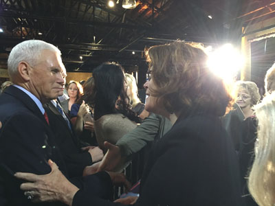 Bonnie Chavda and Mike Pence
